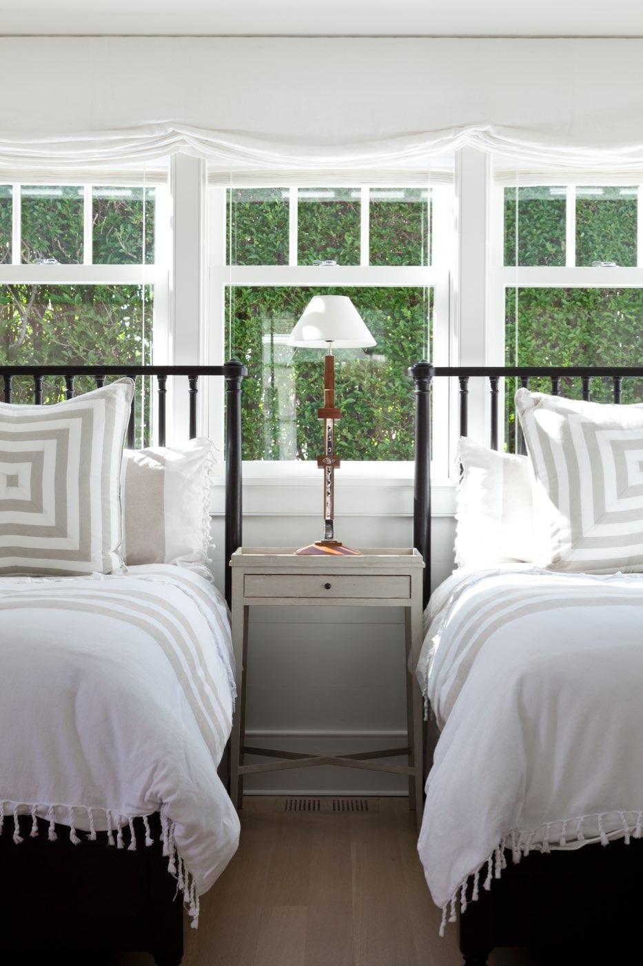 beach retreat bedroom drapery