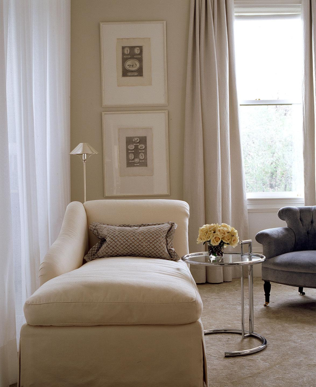 suburban living room drapery