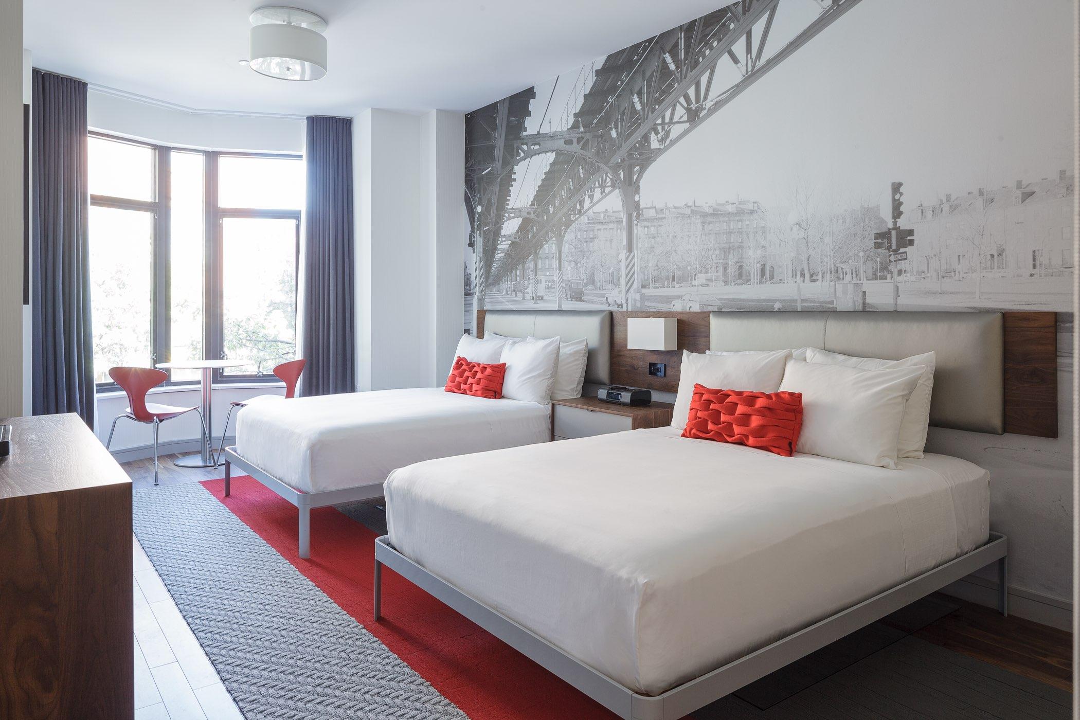 drapery in chandler hotel, south end boston massachusetts