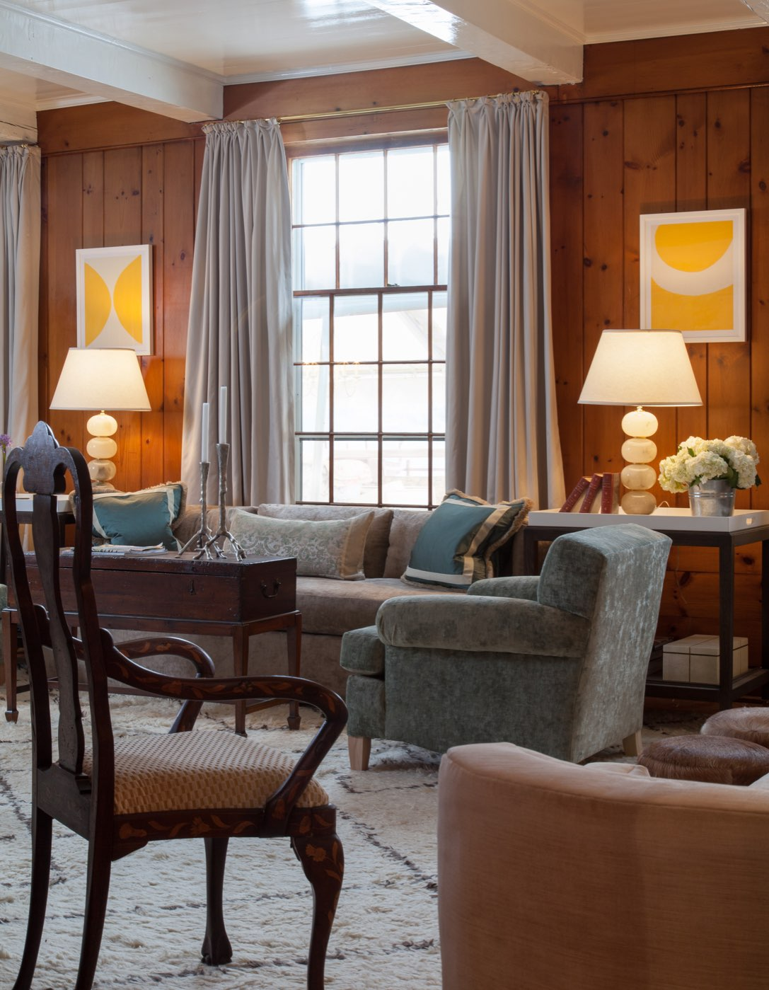 custom drapery at edson hill, Stowe Vermont